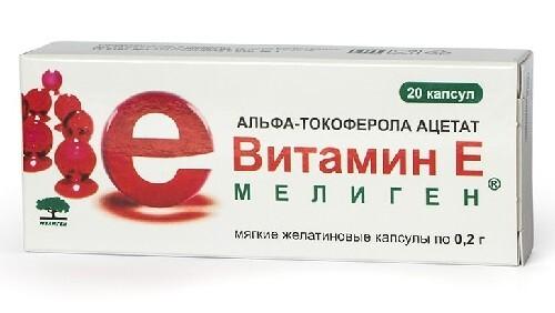 Купить Витамин е мелиген n20 капс массой 200мг цена