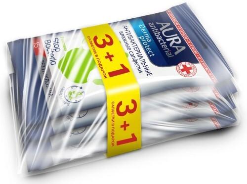 Купить Салфетки влажные очищающие антибактериальные n15 /3+1/промо цена