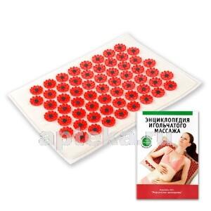 Купить Аппликатор массажер медицинский тибетский магнитный на мягкой подложке 17х28 см/красный цена
