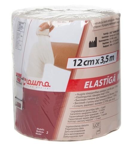 Купить Бинт эластичный lauma 12смx3,5м цена
