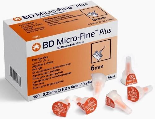 Купить Иглы для шприц-ручки bd micro-fine plus 31g 0,25х6мм одноразового использования n100 цена