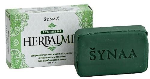 Купить Аюрведическое мыло хербалмикс 24 травы с кокосовым маслом 75,0 цена