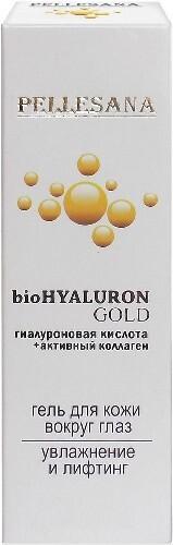 Купить Гиалуроновая кислота+активный коллаген biohyaluron gold гель для кожи вокруг глаз 15мл цена