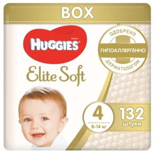 Купить HUGGIES ELITE SOFT ПОДГУЗНИКИ ДЕТСКИЕ РАЗМЕР 4 8-14КГ N132 цена