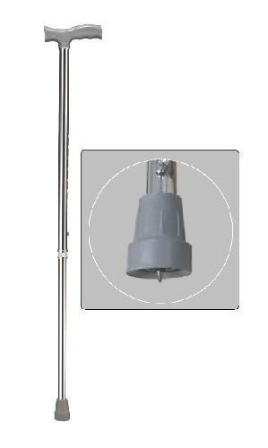 Трость wr-411/серебро/ встроенное против гололедное устройство