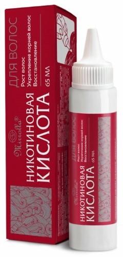 Купить Никотиновая кислота для волос 65мл цена