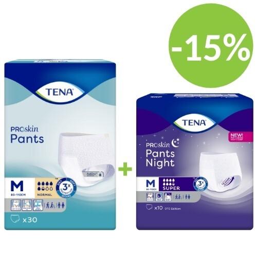 Купить Pants night super набор тена подгузники-трусы день normal №30  и ночь super n10 (размер m) по специальной цене цена
