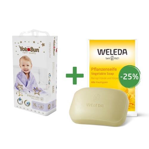 Купить Набор weleda детское мыло с календулой + подгузники-трусики yokosun цена