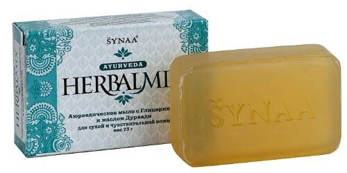 Купить Аюрведическое мыло хербалмикс с глицерином и маслом дурвади 75,0 цена