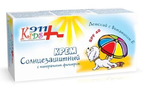911 kids крем детский солнцезащитный spf 40 150мл