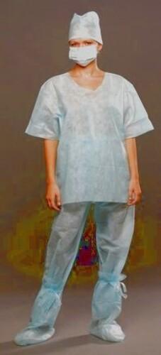 Купить Костюм хирургический (рубашка и брюки) нестерильный размер 52-54/синий цена