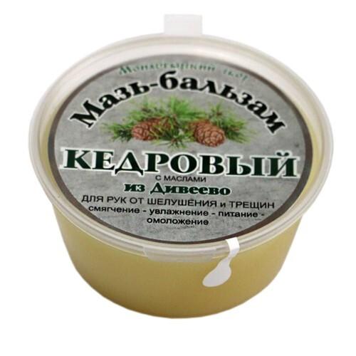 Купить Мазь-бальзам кедровый для рук от шелушения и трещин с маслами из дивеево 50мл цена
