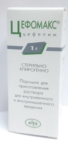 Купить ЦЕФОМАКС 1,0 N1 ФЛАК ПОР Д/Р-РА В/В В/М цена