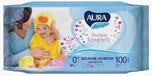 Купить Влажные салфетки для детей с экстрактом алоэ и витамином е 100шт цена