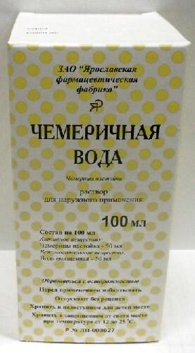Купить Чемеричная вода 100мл флак стекл р-р д/наруж прим/инд/уп/ярославская фф цена