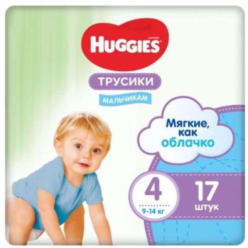 Купить HUGGIES ТРУСИКИ-ПОДГУЗНИКИ ДЕТСКИЕ ДЛЯ МАЛЬЧИКОВ РАЗМЕР 4 N17 цена