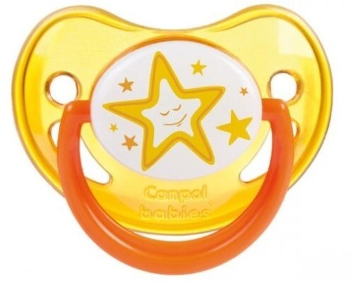 Купить Соска-пустышка силиконовая night dreams 0-6 желтый цена