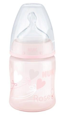 Купить Fc+ бутылочка полипропиленовая с соской из силикона m 0-6m baby rose & blue 150мл/шарик цена