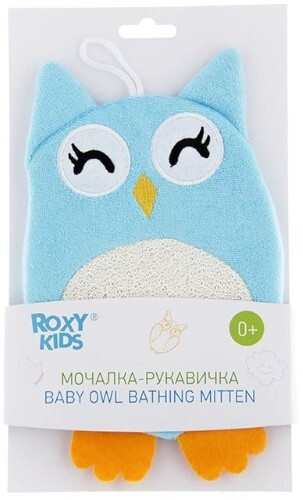 Купить Махровая мочалка-рукавичка baby owl 0+ цена