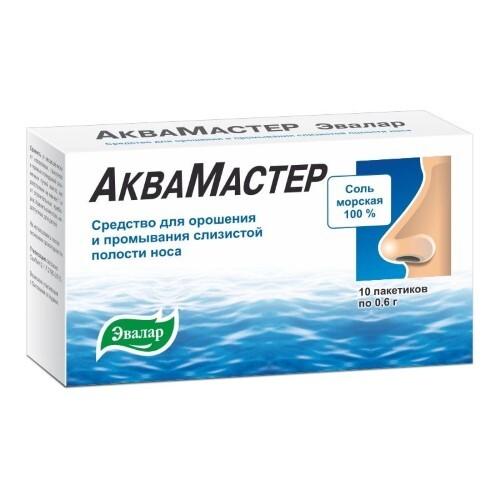 Купить Аквамастер эвалар ср-во д/орошен и промыв слиз полости носа n10пак цена