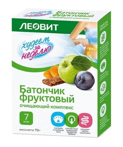 Купить Худеем за неделю батончик фруктовый очищающий комплекс n7 цена