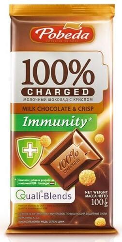 Купить Шоколад молочный с криспом иммунити 100,0 цена