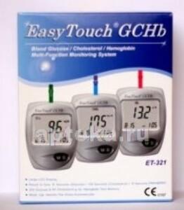Купить Анализатор easy touch  для самоконтроля уровня глюкозы, холестерина и гемоглобина в крови цена