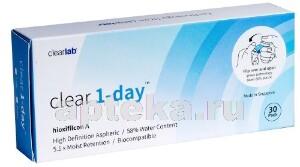 Купить CLEAR1-DAY ОДНОДНЕВНЫЕ КОНТАКТНЫЕ ЛИНЗЫ /-3,50/ N30 цена