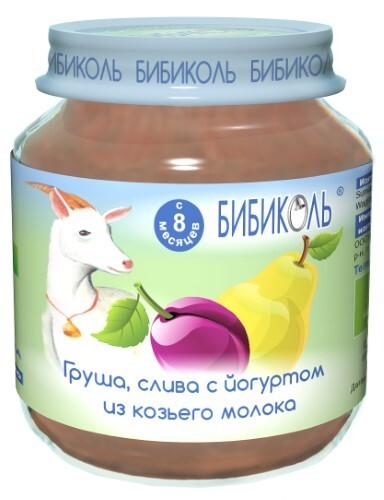 Купить Пюре фруктово-молочное груша слива с йогуртом из козьего молока 125,0 цена