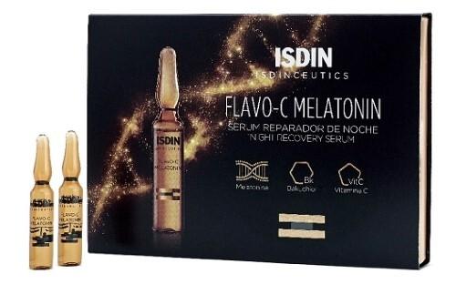 Купить Isdinceutics flavo-c melatonin сыворотка для лица ночная 2мл n10 цена