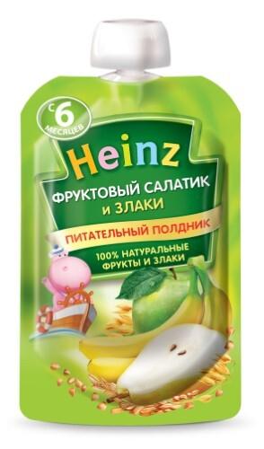 Пюре фруктово-зерновое фруктовый салатик и злаки 90,0