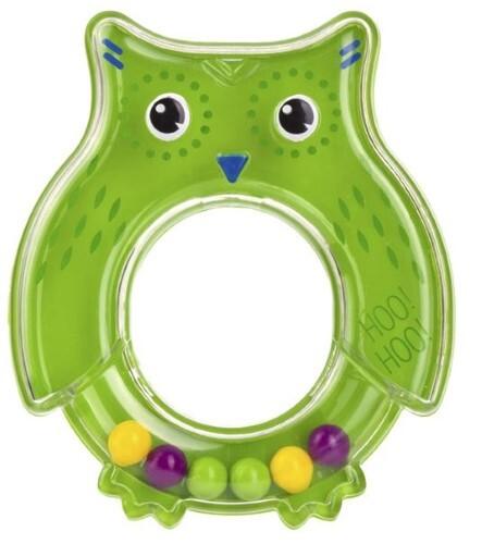 Купить Игрушка погремушка сова зеленая цена