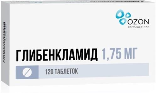 Купить ГЛИБЕНКЛАМИД 0,00175 N120 ТАБЛ цена