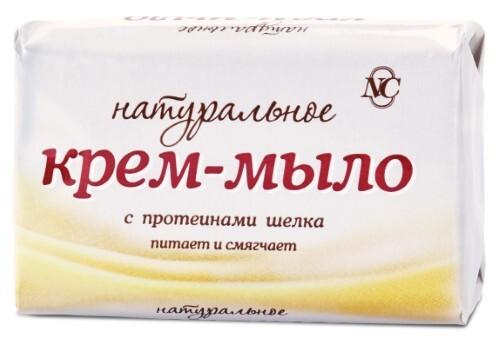 Купить Крем-мыло туалетное натуральное с протеинами шелка марки ординарное 90,0 цена