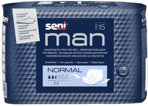Купить Man normal урологические прокладки/вкладыши для мужчин n15 цена