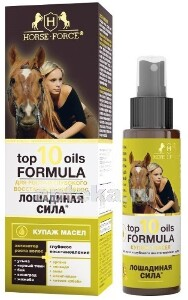 Купить Лошадиная сила top 10 oils formula купаж масел для роста и глубокого восстановления волос 100мл цена