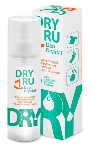 Купить Dryru deo crystal дезодорант-спрей с минеральными кристаллами 40,0 цена