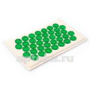 Купить Аппликатор массажер медицинский тибетский на мягкой подложке 12х22 см/зеленый цена