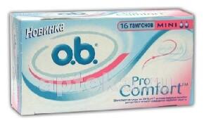 Купить Тампоны o.b. procomfort mini n8 цена