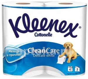 Купить Clean care delicate white туалетная бумага двухслойная n4 цена