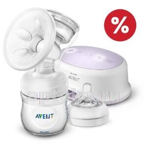 Купить Avent молокоотсос электронный /natural/ scf332/31 цена
