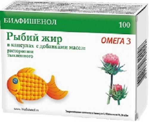 Купить Рыбий жир биафишенол с масл растор/тыквы цена