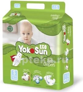 Купить Eco подгузники детские размер s /3-6кг/ n70 цена