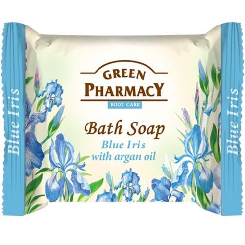 Купить Туалетное мыло голубой ирис с аргановым маслом 100,0 цена
