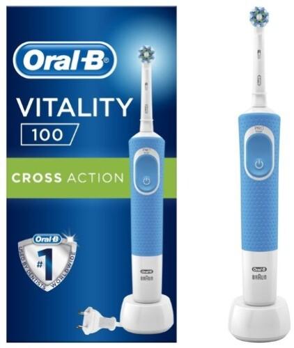 Купить Зубная щетка vitality 100 pro/тип 3710/с насадкой cross action электрическая цена