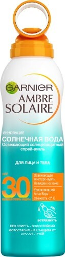 Ambre solaire солнечная вода солнцезащитный спрей-вуаль spf30 200мл