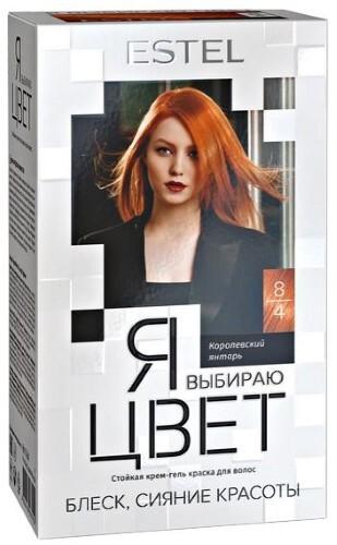 Купить Я выбираю цвет стойкая крем-гель краска для волос тон 8/4 королевский янтарь цена