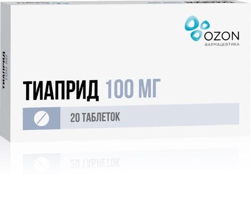 Купить ТИАПРИД 0,1 N20 ТАБЛ/ОЗОН/ цена