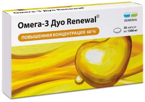 Купить Омега-3 дуо renewal цена