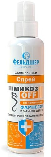 Купить Салициловый спрей микозoff гигиенический фарнезол и чайное дерево 190мл цена